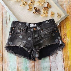 One Teaspoon Polka Dot Bonitas Cutoff Shorts 25